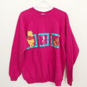 Vintage Winnie The Pooh Pink Crewneck Sweatshirt